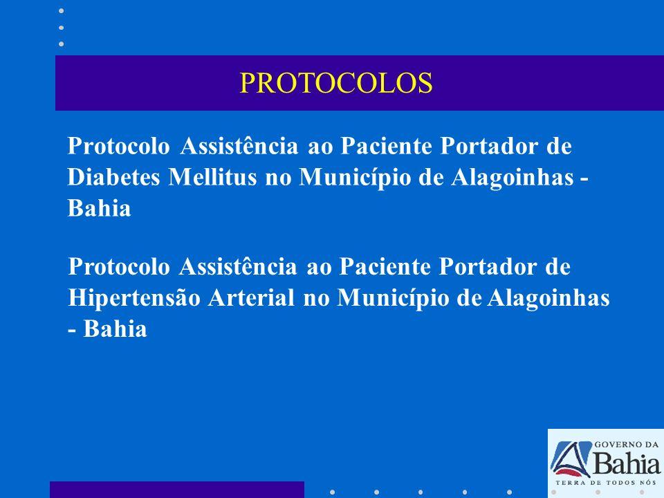 Protocolo Assistência ao Paciente Portador de Diabetes Mellitus no Município de Alagoinhas - Bahia Protocolo Assistência ao Paciente Portador de Hiper