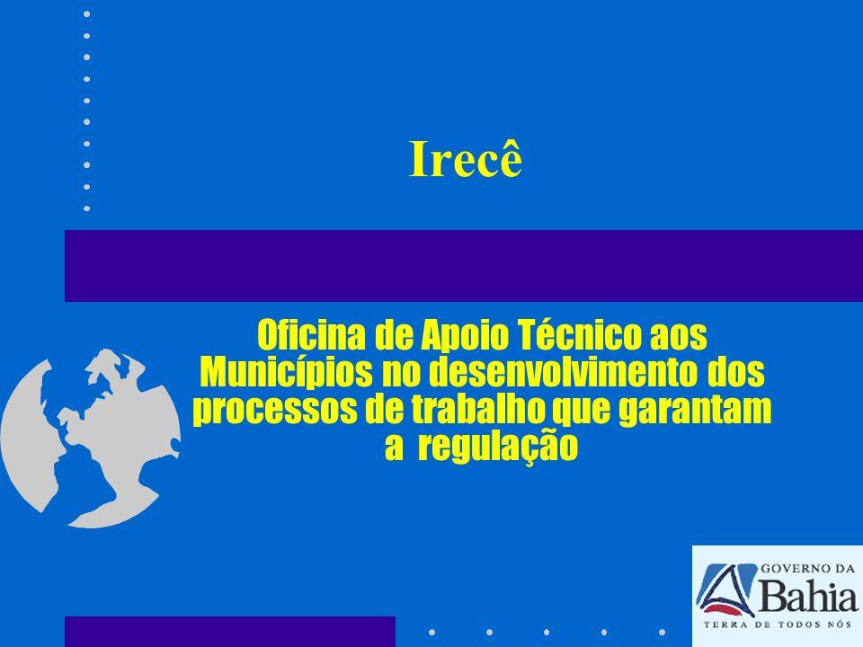 Irecê Oficina de Apoio Técnico aos Municípios no desenvolvimento dos processos de trabalho que garantam a regulação