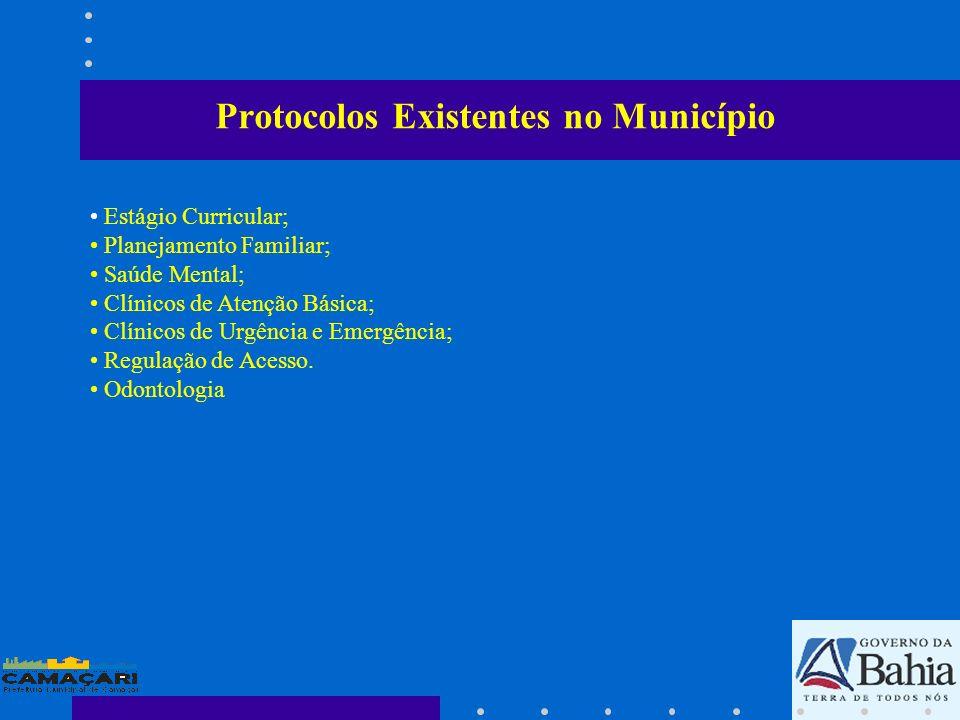Estágio Curricular; Planejamento Familiar; Saúde Mental; Clínicos de Atenção Básica; Clínicos de Urgência e Emergência; Regulação de Acesso. Odontolog
