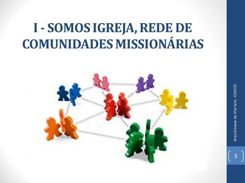 I - SOMOS IGREJA, REDE DE COMUNIDADES MISSIONÁRIAS 5 Arquidiocese de Mariana - COMIDI