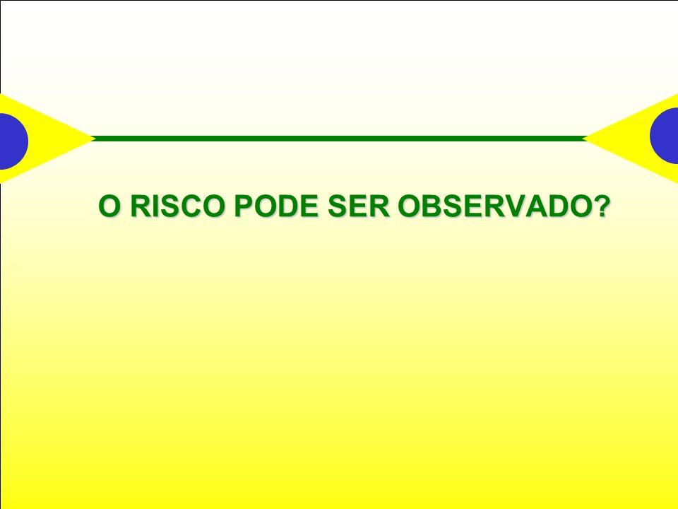 O RISCO PODE SER OBSERVADO?