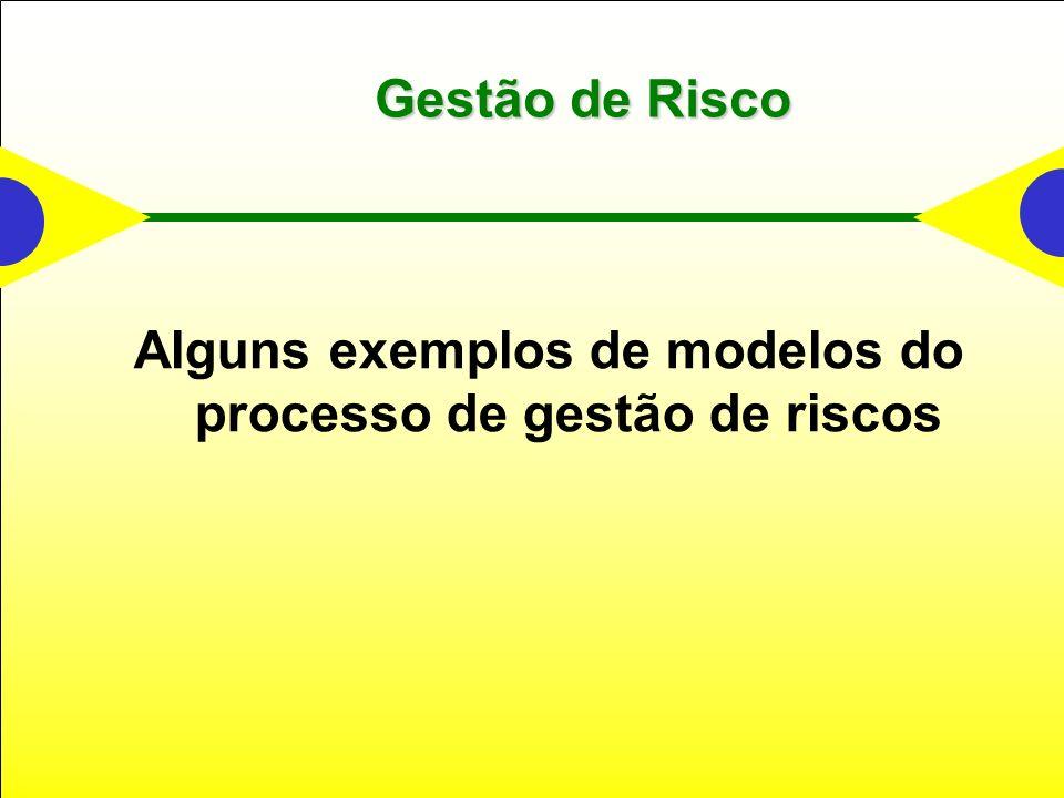 Gestão de Risco Alguns exemplos de modelos do processo de gestão de riscos
