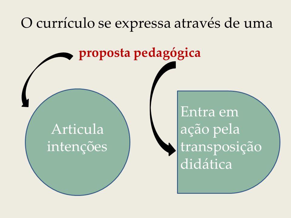 Transposição Didática transforma COMPETÊNCIAS em Intenções educativas