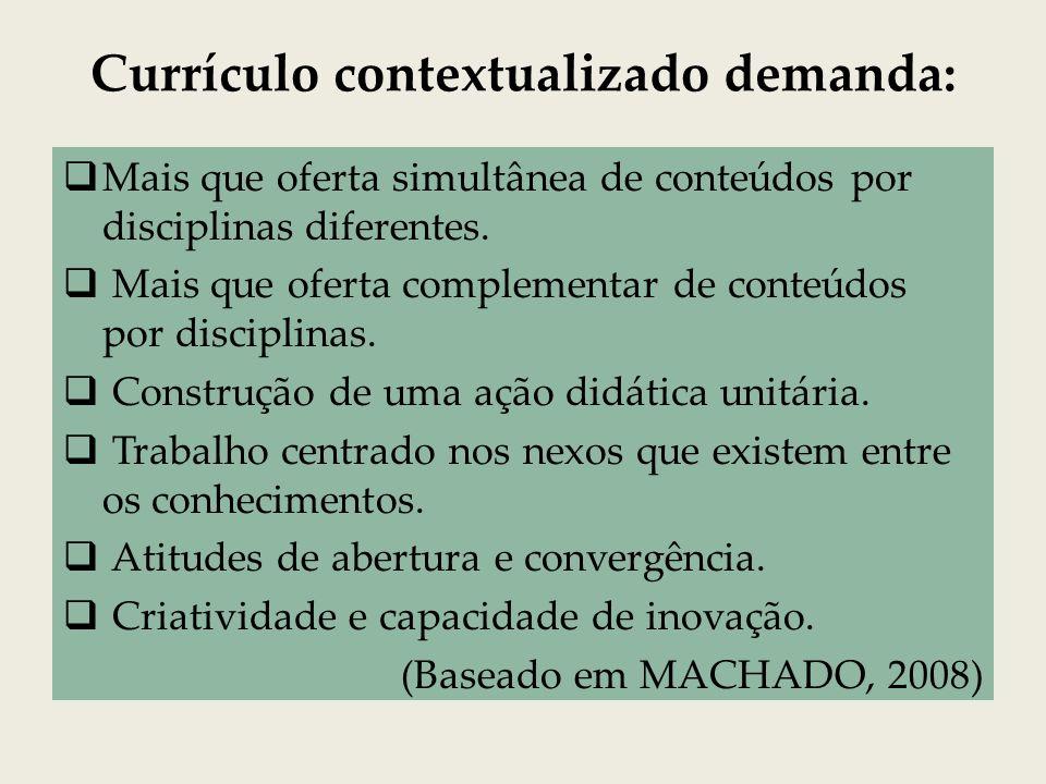 Estratégias para promover a contextualização e a integração pedagógica: Estabelecer eixos para mobilizar os saberes de maneira a interligá-los.