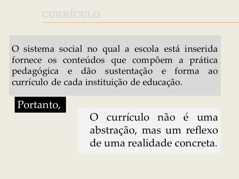 O currículo é uma práxis, ou seja, um conjunto de ações práticas que se organizam a partir de uma visão teórica do processo de ensino-aprendizagem, que, por sua vez, é modificada pela prática.