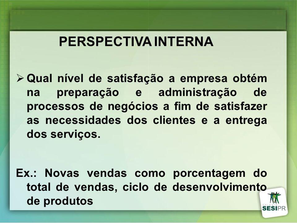 Qual nível de satisfação a empresa obtém na preparação e administração de processos de negócios a fim de satisfazer as necessidades dos clientes e a e