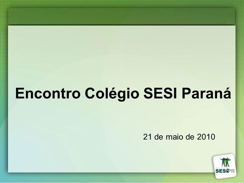 2 Encontro Colégio SESI Paraná 21 de maio de 2010