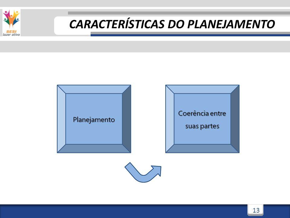 13 CARACTERÍSTICAS DO PLANEJAMENTO
