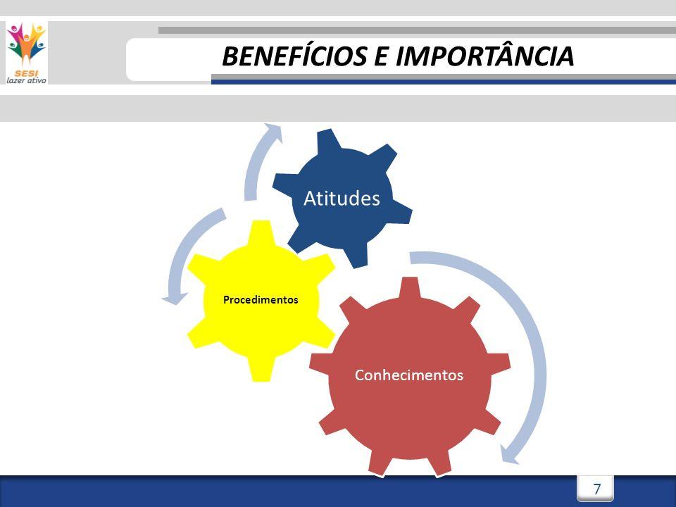 7 Conhecimentos Procedimentos Atitudes BENEFÍCIOS E IMPORTÂNCIA