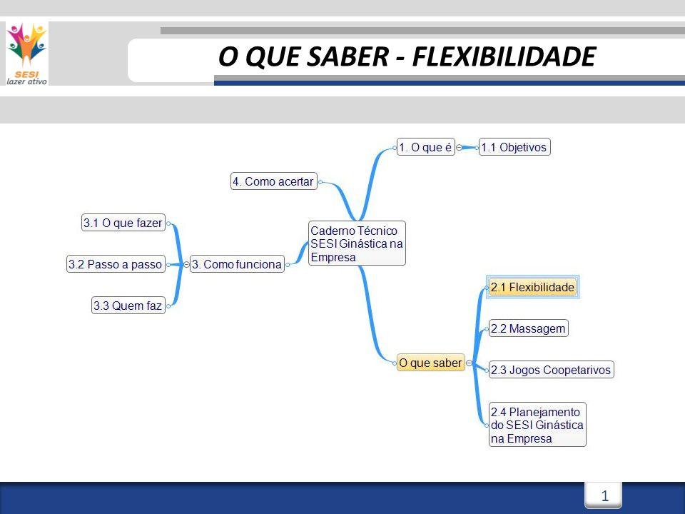 3/3/20141 1 O QUE SABER - FLEXIBILIDADE