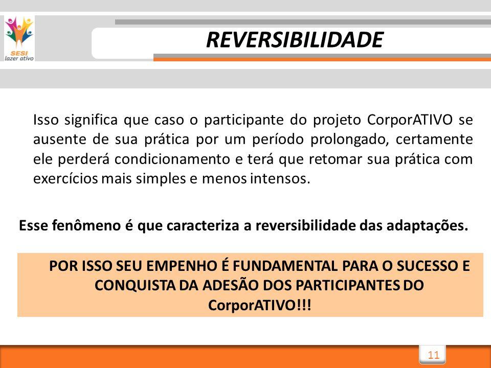11 Isso significa que caso o participante do projeto CorporATIVO se ausente de sua prática por um período prolongado, certamente ele perderá condicion