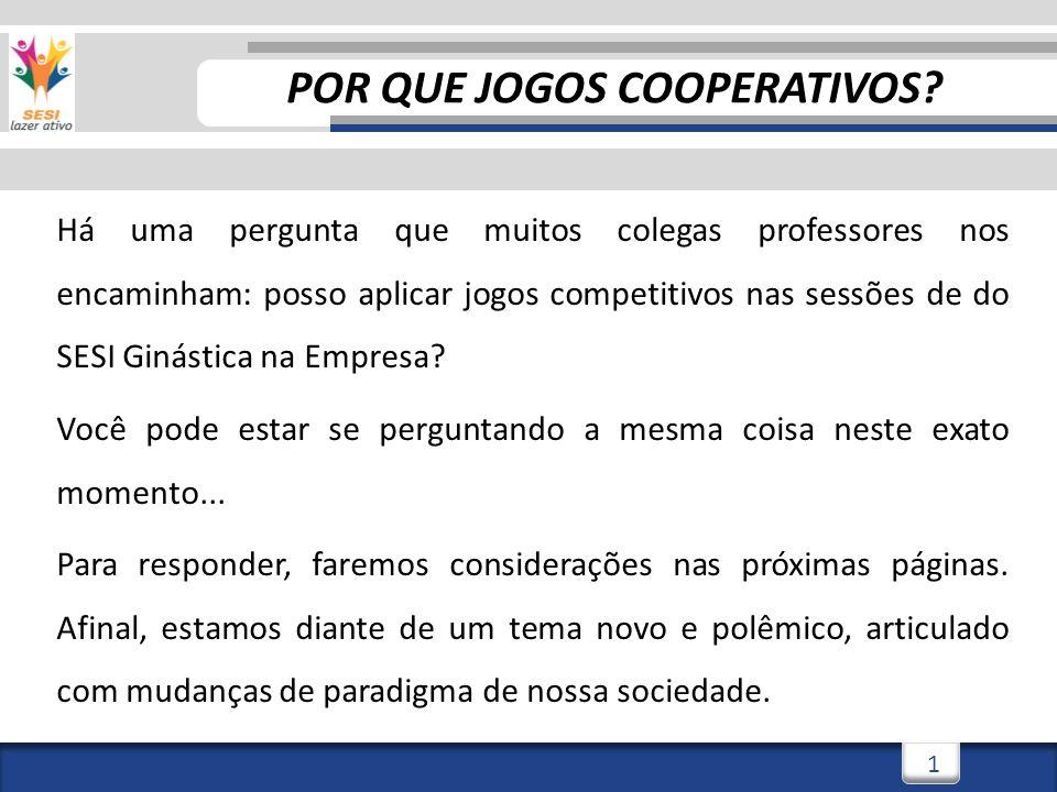 1 Há uma pergunta que muitos colegas professores nos encaminham: posso aplicar jogos competitivos nas sessões de do SESI Ginástica na Empresa.