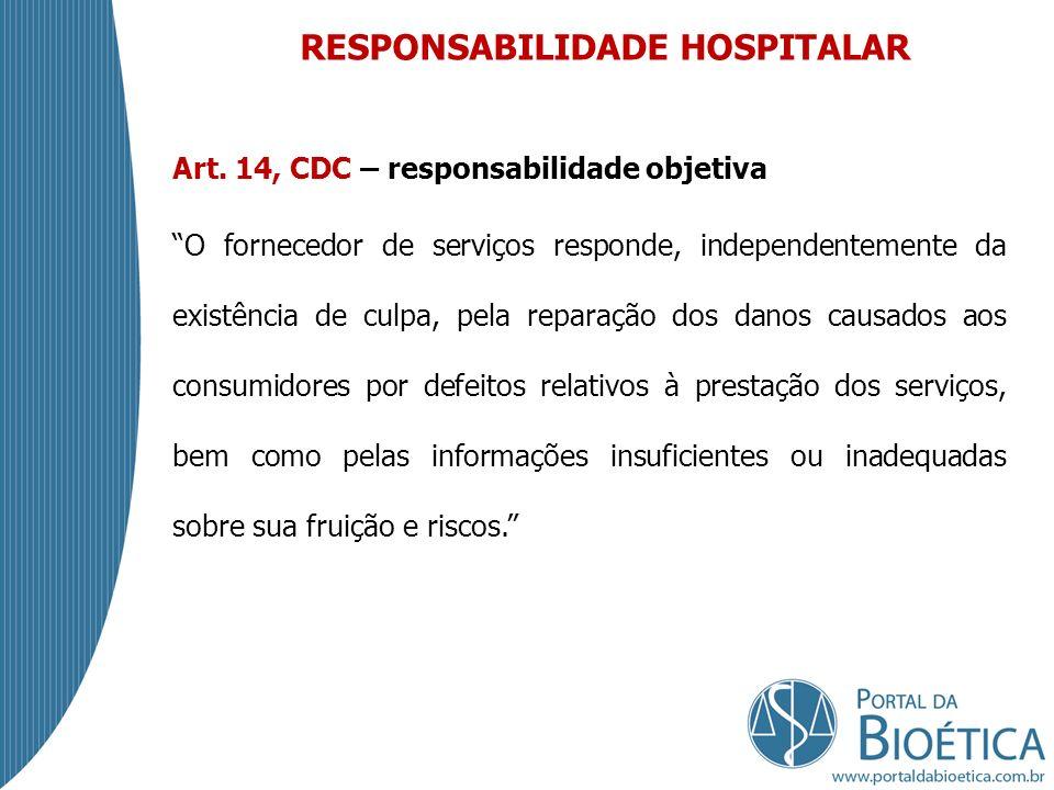 RESPONSABILIDADE HOSPITALAR Art.