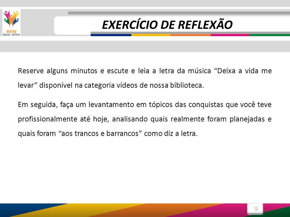 10 Exercício de reflexão ConquistasHouve planejamento.