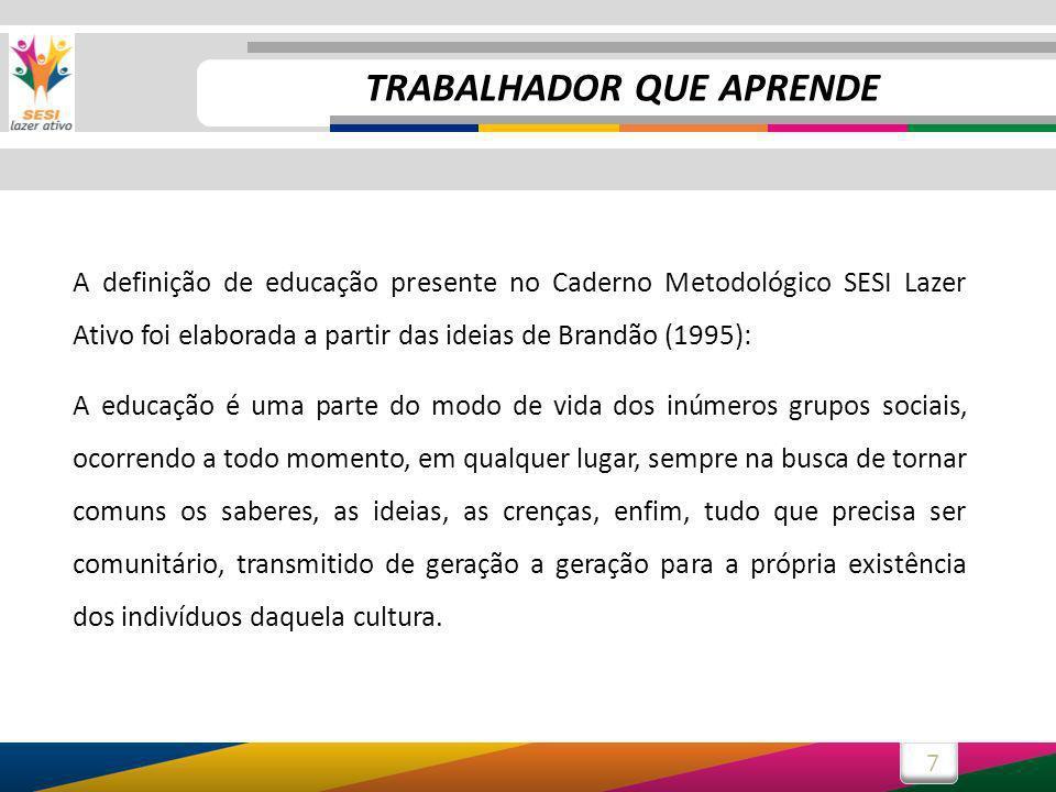 8 Você percebeu que Brandão nos fala que a educação ocorre a todo momento, em qualquer lugar.