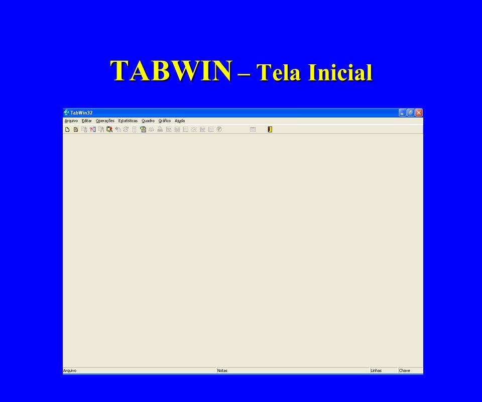 TABWIN – Tela Inicial