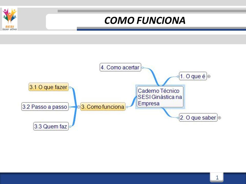 2 COMO FUNCIONA – O QUE FAZER Para começar, vamos dar uma olhada no fluxograma de atendimento do SESI Ginástica na Empresa.
