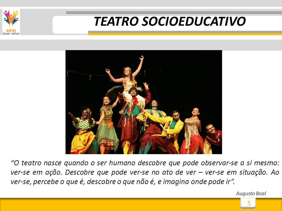 5 O teatro nasce quando o ser humano descobre que pode observar-se a si mesmo: ver-se em ação.