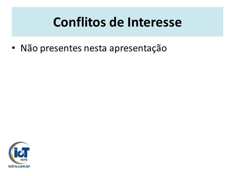 Conflitos de Interesse Não presentes nesta apresentação