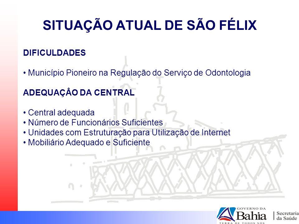 DIFICULDADES Município Pioneiro na Regulação do Serviço de Odontologia ADEQUAÇÂO DA CENTRAL Central adequada Número de Funcionários Suficientes Unidad