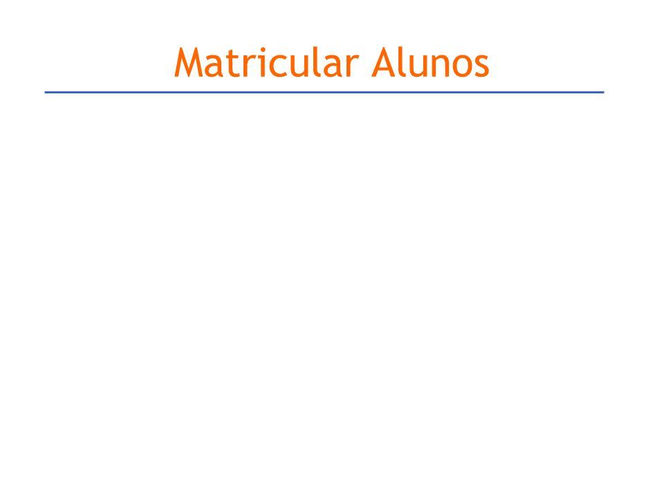 Matricular Alunos