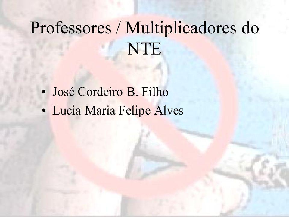 Professores / Multiplicadores do NTE José Cordeiro B. Filho Lucia Maria Felipe Alves