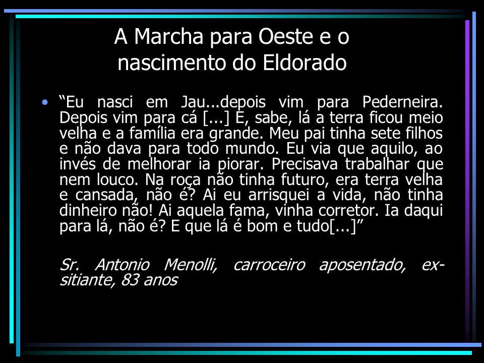 Bom, eu vim para Londrina porque a minha região, ao tempo que eu me formei no Rio de Janeiro [...] era decadente.
