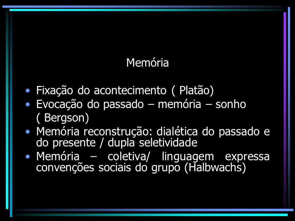 Memória - História Relações dialéticas: Monumentalização / desconstrução dos Mitos ou visões hegemônicas da historiografia e da memória ( Le Gof)