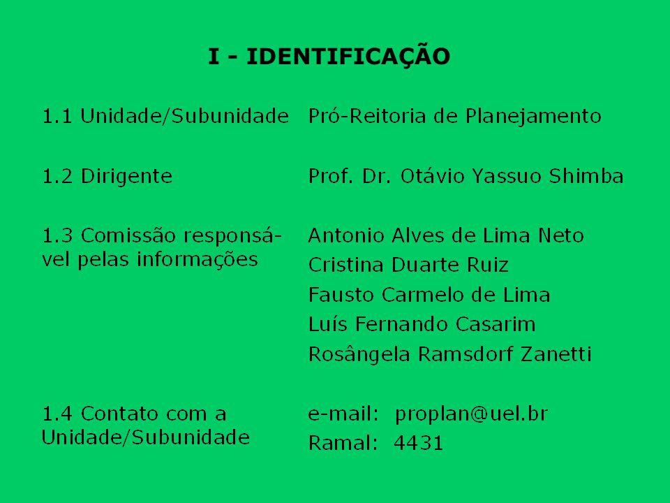 I - IDENTIFICAÇÃO