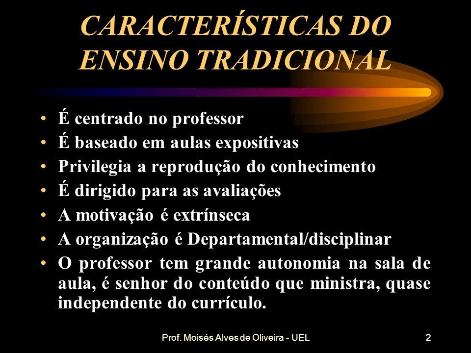 Prof. Moisés Alves de Oliveira - UEL O QUE É O PBL? O PBL (Aprendizado baseado em Problemas) é um método de aprendizado centrado no aluno, tem o probl