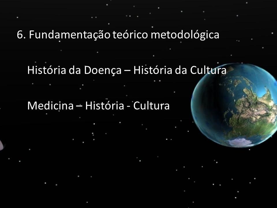6. Fundamentação teórico metodológica História da Doença – História da Cultura Medicina – História - Cultura
