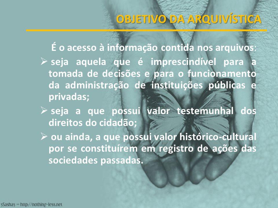 O Sistema de Arquivos pressupõe o funcionamento integrado de todos os arquivos da instituição.