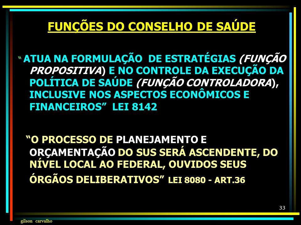 gilson carvalho 32 FUNÇÕES DO CONSELHO