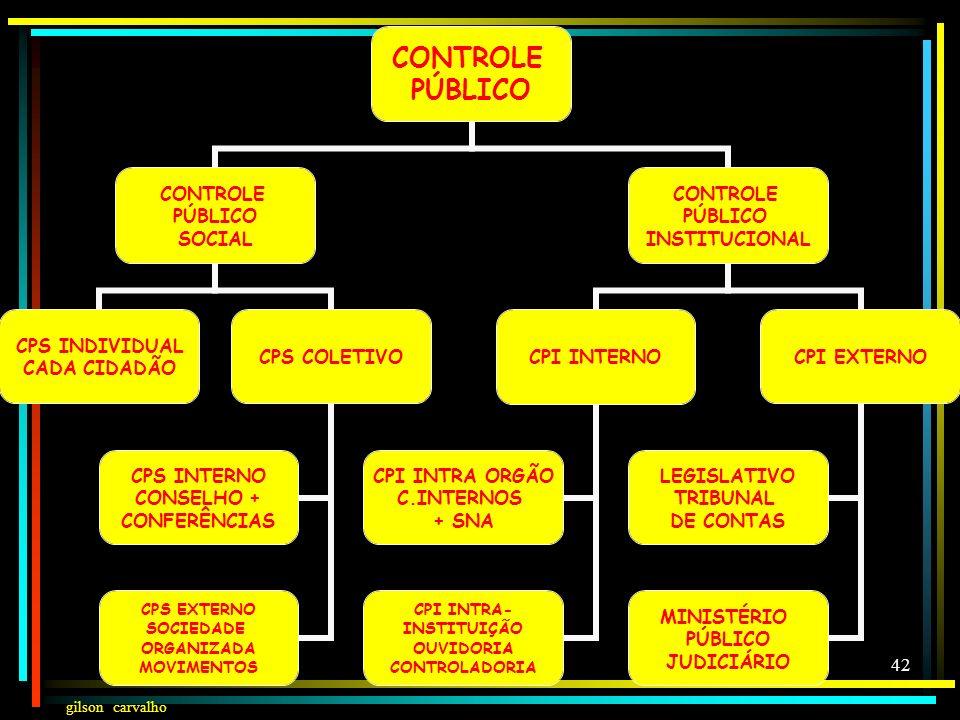 gilson carvalho 41 FUNÇÃO CONTROLADORA: CONTROLE DAS AÇÕES E DO DINHEIRO