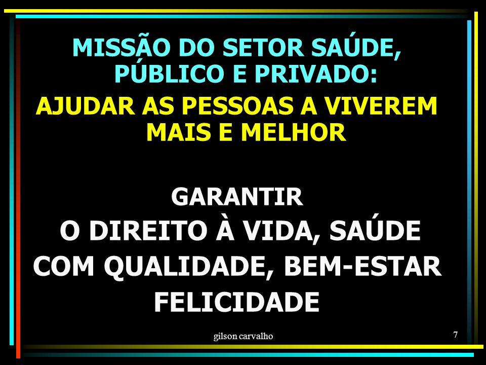 gilson carvalho 57 PRESIDÊNCIA DOS CONSELHOS O PASSADO: GESTORES DA SAÚDE (MINISTROS E SECRETÁRIOS) O PRESENTE: ELEIÇÃO ENTRE OS CONSELHEIROS O FUTURO, DESEJÁVEL E CORRETO: PRESIDÊNCIA DOS CONSELHOS SEMPRE NAS MÃOS DE CIDADÃOS USUÁRIOS POR ELEIÇÃO OBS: PARA MIM A LUTA PARA NÃO SER O GESTOR O PRESIDENTE NATO DO CONSELHO E, LOGO EM SEGUIDA, SUBSTITUÍ-LO POR PROFISSIONAIS OU PRESTADORES É UMA TRAIÇÃO AOS CIDADÃOS USUÁRIOS...