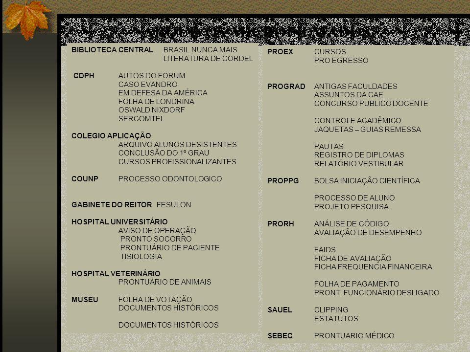 PROEXCURSOS PRO EGRESSO PROGRADANTIGAS FACULDADES ASSUNTOS DA CAE CONCURSO PUBLICO DOCENTE CONTROLE ACADÊMICO JAQUETAS – GUIAS REMESSA PAUTAS REGISTRO DE DIPLOMAS RELATÓRIO VESTIBULAR PROPPGBOLSA INICIAÇÃO CIENTÍFICA PROCESSO DE ALUNO PROJETO PESQUISA PRORHANÁLISE DE CÓDIGO AVALIAÇÃO DE DESEMPENHO FAIDS FICHA DE AVALIAÇÃO FICHA FREQUENCIA FINANCEIRA FOLHA DE PAGAMENTO PRONT.