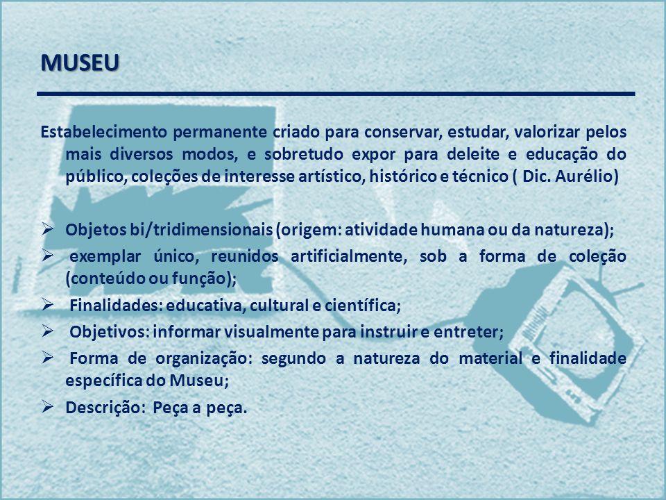 MUSEU Estabelecimento permanente criado para conservar, estudar, valorizar pelos mais diversos modos, e sobretudo expor para deleite e educação do púb