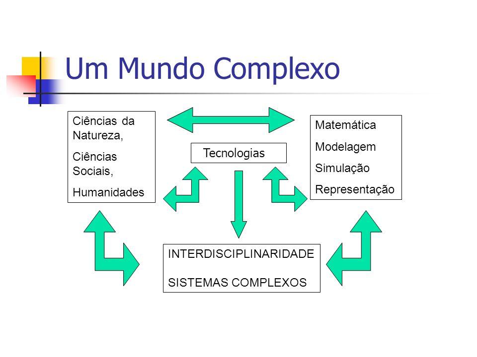 Um Mundo Complexo Ciências da Natureza, Ciências Sociais, Humanidades Matemática Modelagem Simulação Representação INTERDISCIPLINARIDADE SISTEMAS COMP