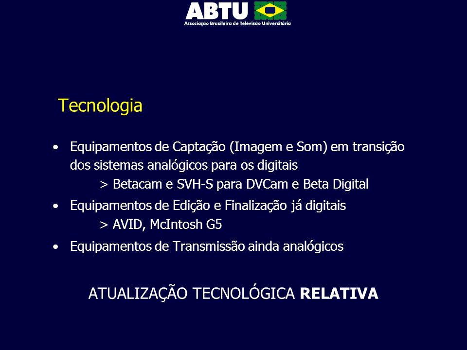 Tecnologia Equipamentos de Captação (Imagem e Som) em transição dos sistemas analógicos para os digitais > Betacam e SVH-S para DVCam e Beta Digital E