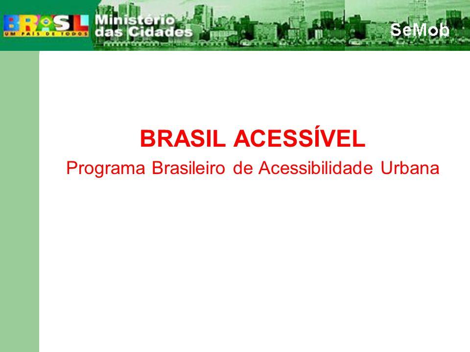 BRASIL ACESSÍVEL Programa Brasileiro de Acessibilidade Urbana