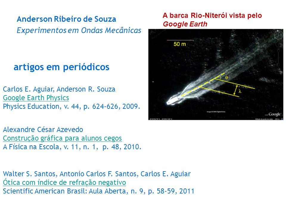 Anderson Ribeiro de Souza Experimentos em Ondas Mecânicas A barca Rio-Niterói vista pelo Google Earth Carlos E. Aguiar, Anderson R. Souza Google Earth