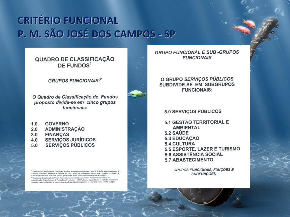 CRITÉRIO FUNCIONAL P. M. SÃO JOSÉ DOS CAMPOS - SP