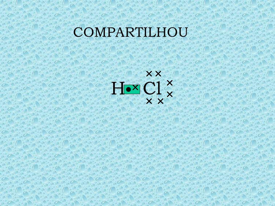 Hidrogênio e cloro, ambos precisam de um elétron para adquirir estabilidade, ou seja, completar os seus orbitais, obedecem respectivamente as regras d