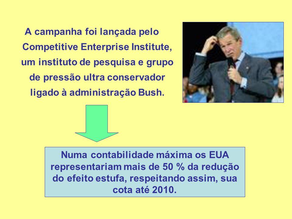A campanha foi lançada pelo Competitive Enterprise Institute, um instituto de pesquisa e grupo de pressão ultra conservador ligado à administração Bus