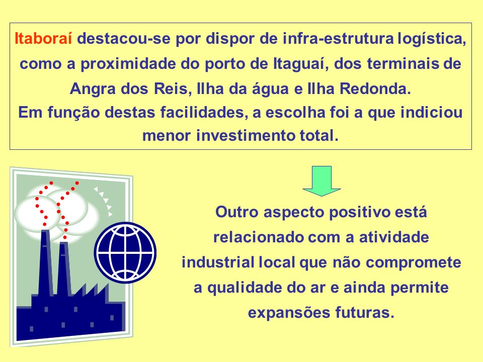 Investimentos e Empregos: O investimento total no complexo será de US$ 6,5 bilhões.