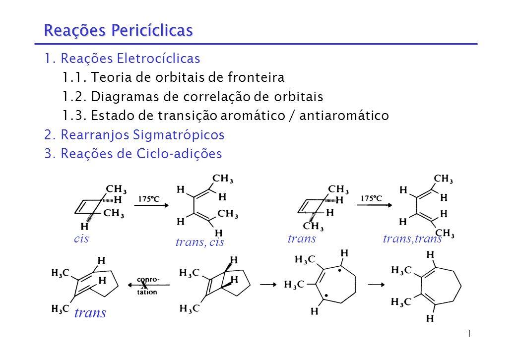 2 1.Reações Eletrocíclicas 1.1.