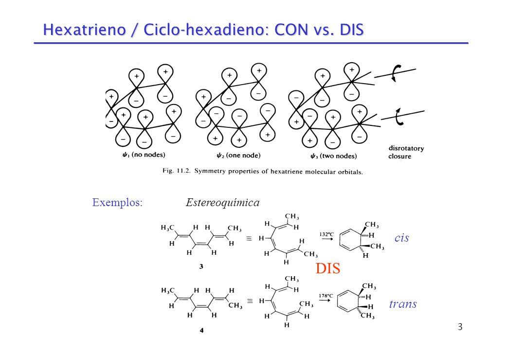 14 Rearranjos de Cope e Claissen [3,3] Rearranjo de Cope (esquema geral): Rearranjo de Claissen (aromático): Rearranjo de Claissen (alifático):