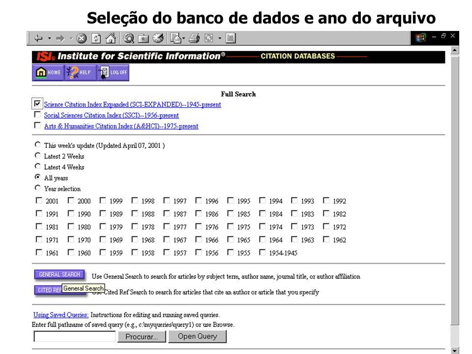 Página na Internet do Derwent para pesquisa de patentes