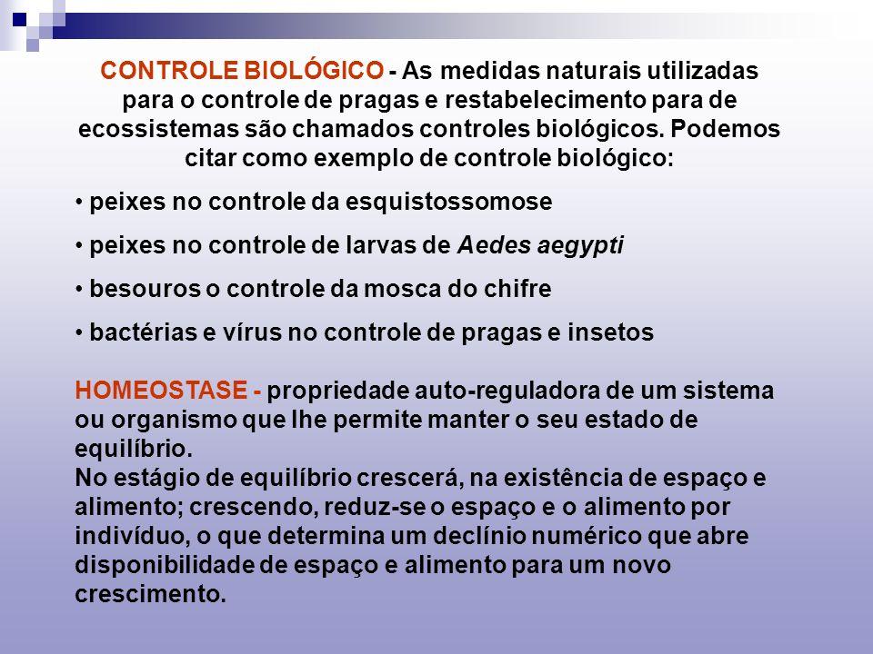 LIMITE DE TOLERÂNCIA: Quanto maior o limite de tolerância (Valencia ecológica), maior a capacidade de povoar ambientes diversos (cosmopolismo).