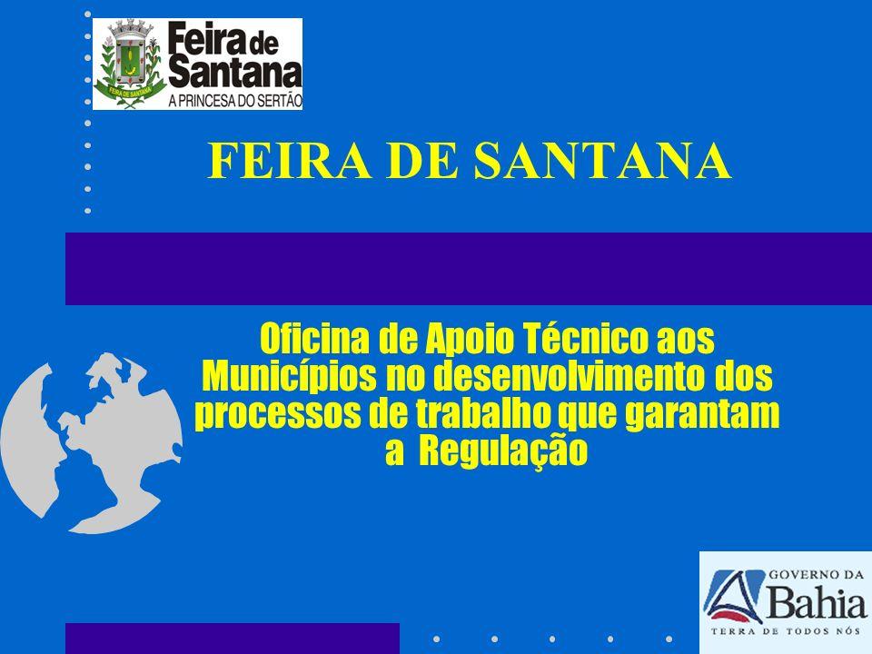 FEIRA DE SANTANA Oficina de Apoio Técnico aos Municípios no desenvolvimento dos processos de trabalho que garantam a Regulação